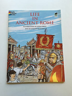 Life in Ancient Rome Dover History Coloring Book Teacher Homeschool Adult