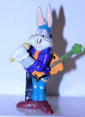 """Looney Tunes Band """"Bugs Bunny w/Carrot Guitar & Mic!"""" Figure PVC Pencil Topper"""