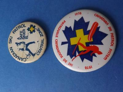 Canadian Ski Patrol Employee Button Lot 1978 Central Zone Vintage Yellow Cross