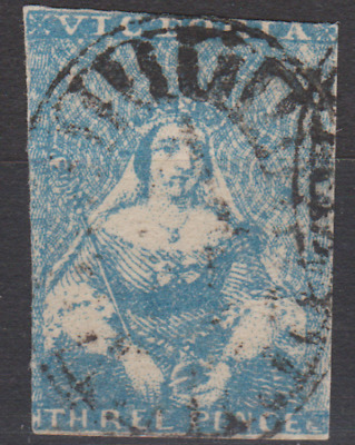 Victoria 1850's Used 3d Blue SG ??