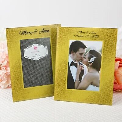 20 Personalized Printed Gold Beveled Glass Table Number Centerpiece Or Frames
