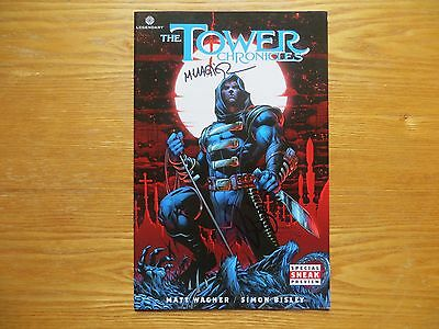 2012 The Tower Chronicles Preview Signed 2X Simon Bisley & Matt Wagner With Poa