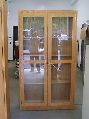 """used""  2 Door / 5 Shelf - Wood  Storage Cabinet-Pick Up Only! #1"