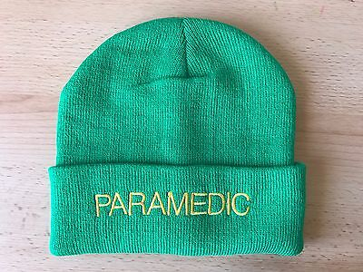 1 x Paramedic Beanie / Woolly Hat LGT GREEN Ambulance Medic Emergency St John
