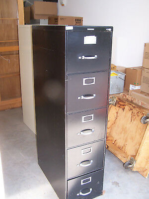 """used"" Steelcase  5 Drawer  Metal  File Cabinet-Pick Up Only!"