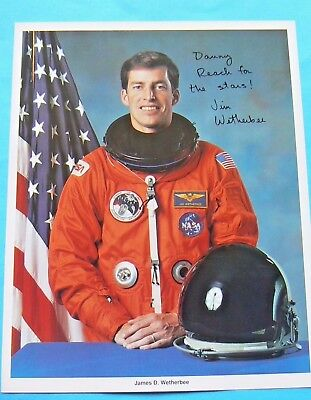 JIM WETHERBEE NASA ASTRONAUT SIGNED AUTHENTIC AUTOGRAPHED 8x10 PHOTO