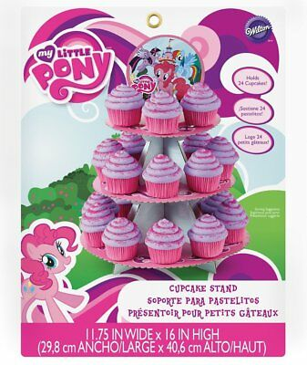 Wilton My Little Pony Cupcake Stand - 3 Tier Cardboard Treat Stand with Topper