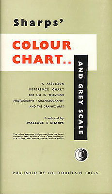 sharps colour chart & grey scale : for use in graphic arts ! 1956