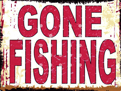 No Fishing Plaque Sign Hand Made /& Painted Garden Pond Birthday Present