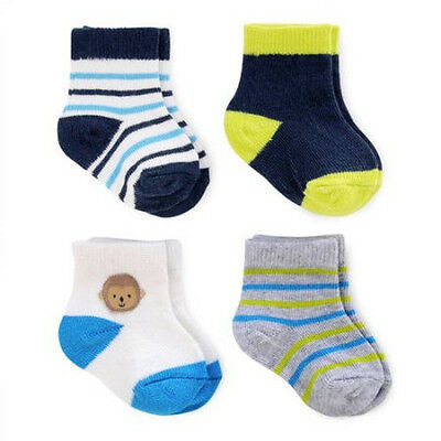 NEW Newborn Baby Boys Child of Mine by Carters 4 Pack Socks NB  Great Gift