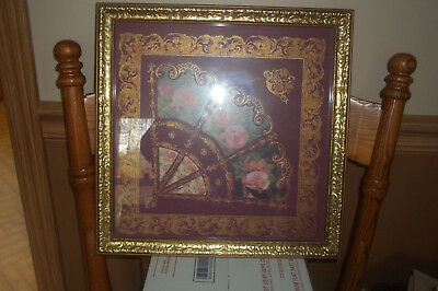 Home Interior Victorian Fan With Roses Picture