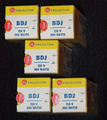 BDJ Projector Bulbs, Total of Five, Spare film projector bulbs, Camera,