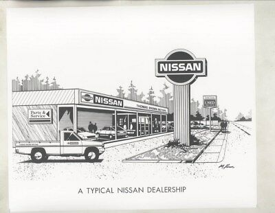 1984 ? Nissan Dealer Showroom ORIGINAL Factory Photograph wy5211