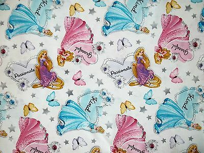 Hand Made Princess's w/ Butterfly Cotton Fitted Crib/Toddler Sheet