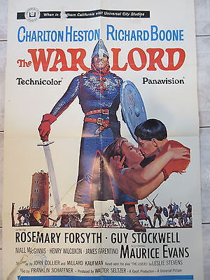 Old 1965 Movie Poster The Warlord Charlton Heston