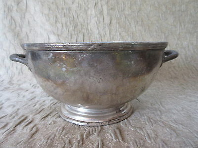 Antique Ritz Carlton Montreal Silverplate Footed Handled Bowl