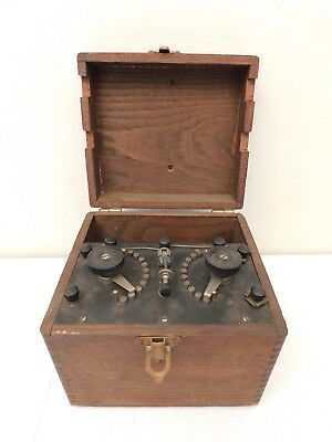 VINTAGE 20s ANTIQUE HISTORICAL CRYS-TON CRYSTAL RADIO APPARATUS VERY PRIMITIVE