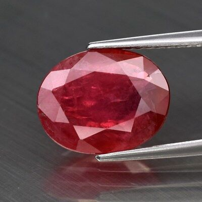 Rare Big! 3.28ct 11.2x9mm Oval Natural Red Spinel, Tanzania