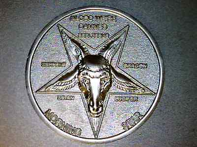 """Lucifer Morning Star Prop Coin  - Misty Silver 3D Coin   1 1/2"""""""