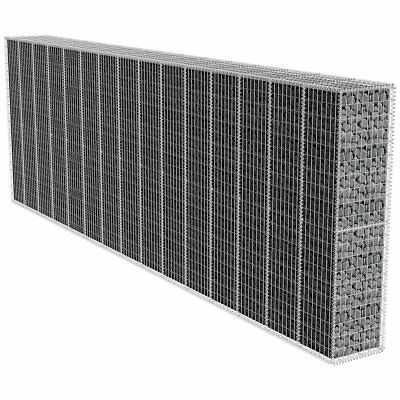 New Galvanised Steel Gabion Wall with Cover 600x50x100cm/600x50x200cm Rust-proof