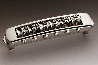 Schaller 'Tune-o-matic' style Roller STM Bridge, Nickel 12080100