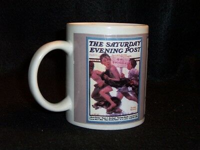 Norman Rockwell Saturday Evening Post cover coffee cup #3