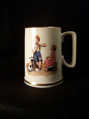 Norman Rockwell music maker ceramic cup