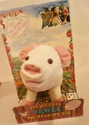 Pee-Wee's Pal Vance The Talking Pig Mint W/orig. Box -1988 - Old Store Stock