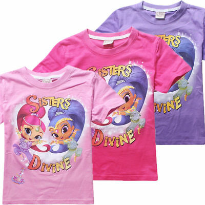 Shimmer and Shine T shirt Cute Kids Girls Casual Summer T shirts Tops Clothes