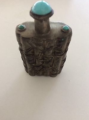 Asian Japanese? Chinese? Tall  Snuff Metal  Bottle #7 Bamboo Design