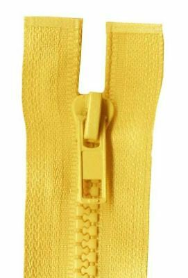 25cm Gold Open End Chunky Zip