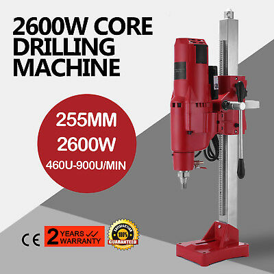 2600W Drill Press Machine Driller Unit 255MM 10 Rock Holes Protection Feed