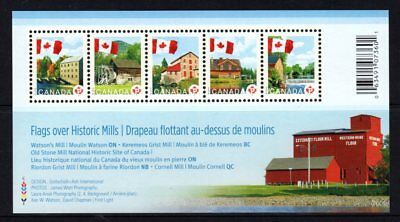 Canada 2010 Flags & Mills Sheetlet 5 MNH