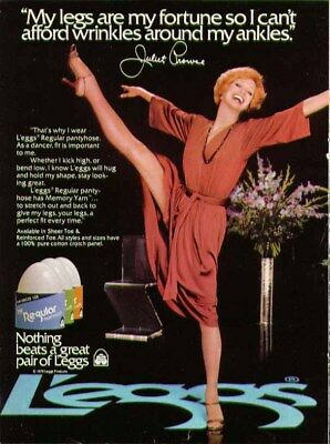 My legs are my fortune Juliet Prowse for L'eggs pantyhose ad 1979