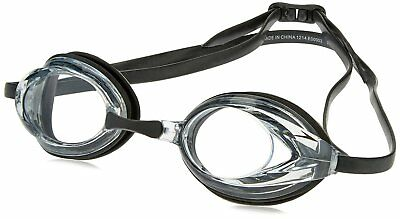 Speedo Vanquisher Optical Competition Swim Swimming Goggles Clear Diopter -4.5