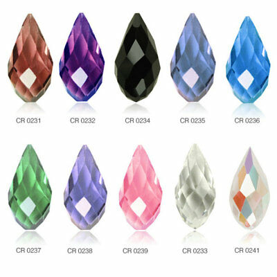 10pcs 12x6mm Teardrop Loose Faceted Crystal Beads Jewelry Crafts Making DIY