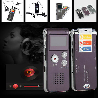 8GB MP3 Player Digital Audio/Sound/Voice Recorder Rechargeable Dictaphone