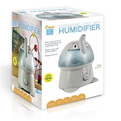 Crane Ultrasonic Cool Mist Humidifier Elephant Offers Relief From Congestion