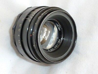 HELIOS -44-2 58mm F2 LENS M42mm FIT MADE IN USSR (MANUAL PRE-SET STOP DOWN)