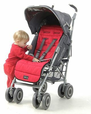 Outlook Cotton Pram Liner - Red -  Washable -  Completely universal
