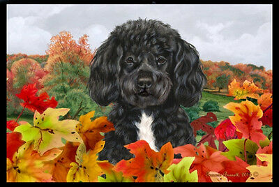 Indoor/Outdoor Fall Floor Mat - Portuguese Water Dog 40120