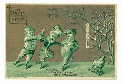 THE DAVIS IS BEST, Victorian Trade Card, 265, Sewing Machines