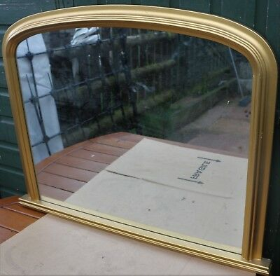Large Gilt Framed Overmantle Type Mirror To Touch Up