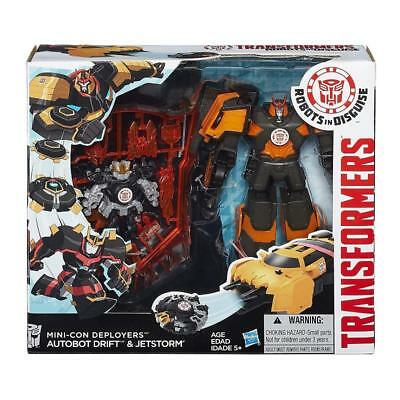 Transformers Mini-Con Deployers Drift & Jetstorm Figure Play Set Toy