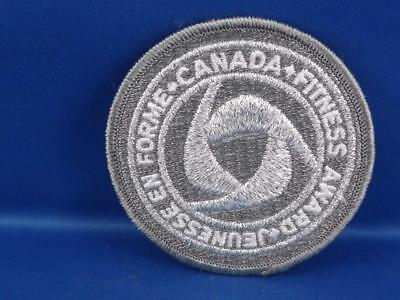 Silver Canada Fitness Award Vintage  Patch Collector Athlete Badge