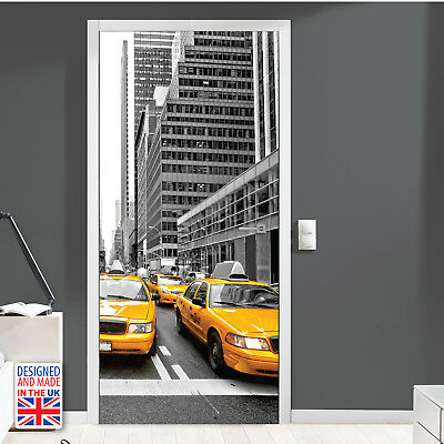 New York Taxi Door Mural Sticker Europe Size 90Cm X 200Cm Gift Idea for Home