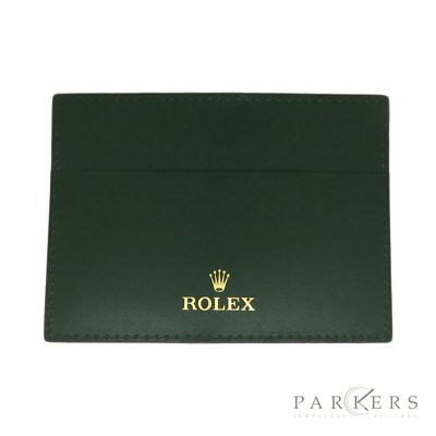 Rolex Green Leather Wallet
