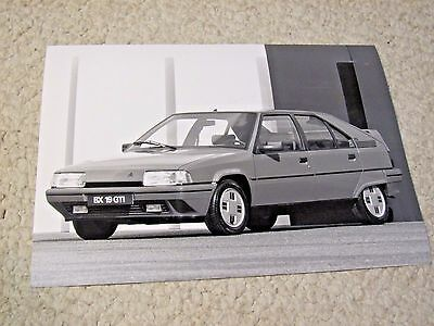 1987 Citroen Bx 19Gti Original Press Photo...