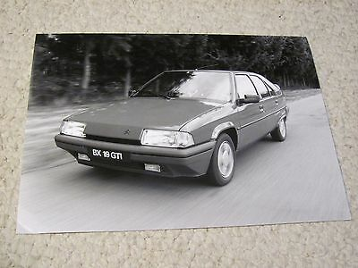 1987 Citroen Bx19 Gti Original Press Photo