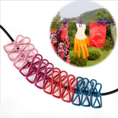 5 Colors Elastic Latex Clothesline Outdoor Camping Non-slip Rope 12 Pegs 1.9m
